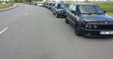 BMW E34 Summer season opening KLAIPĖDA