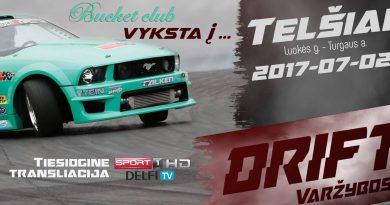 Bucket club vyksta į LT drifto Čempionato etapą Telšiuose