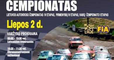 Lietuvos autokroso čempionatas - 4etapai