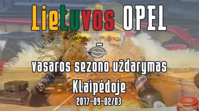 Lietuvos OPEL vasaros sezono uždarymas Klaipėdoje