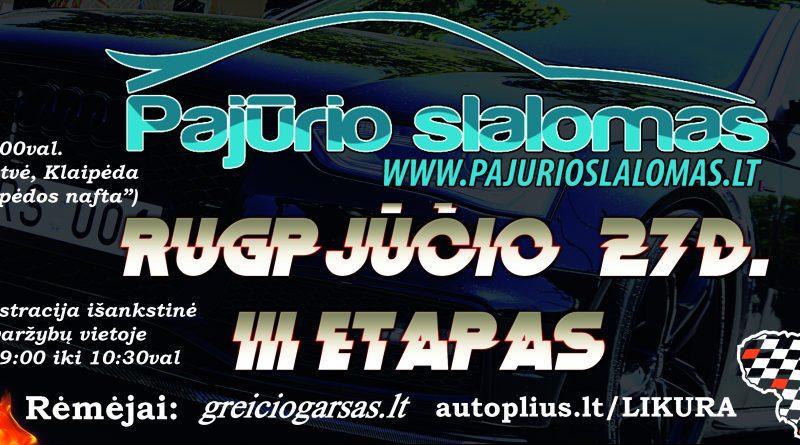PAJŪRIO SLALOMAS 3-asis etapas