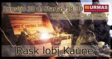 """Lobio paieškos """"Rask lobį Kaune"""" (2017-09-30)"""