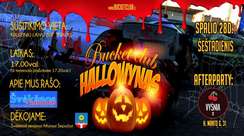 Bucket club Hallowynas 2017