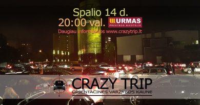 Orientacinės automobilių varžybos Kaune CRAZY TRIP 2017-10-14