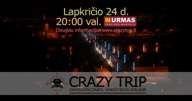 Orientacinės automobilių varžybos Kaune CRAZY TRIP 2017-11-24