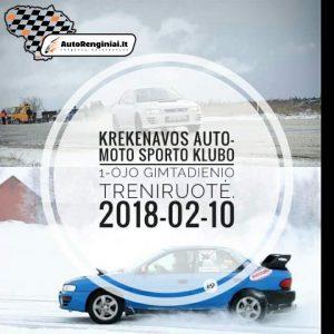 Krekenavos auto-moto sporto klubo gimtadienio treniruotė 2018.02.10