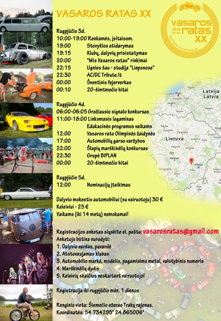 Vasaros Ratas 2018 programa