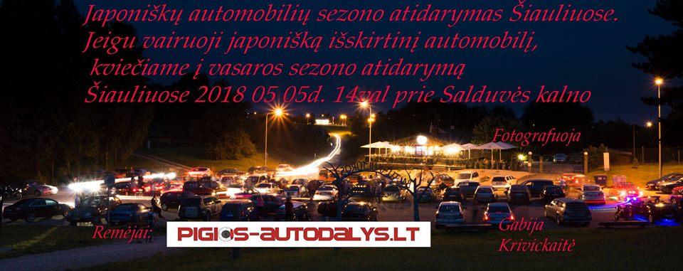 Japoniškų automobilių sezono atidarymas Šiauliuose 2018 05 05