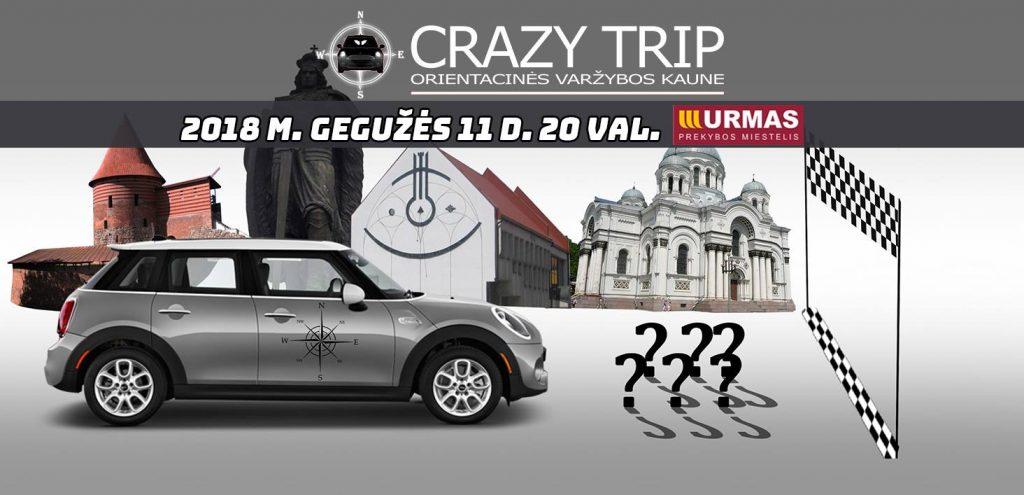 Orientacinės automobilių varžybos Kaune CRAZY TRIP 2018-05-11
