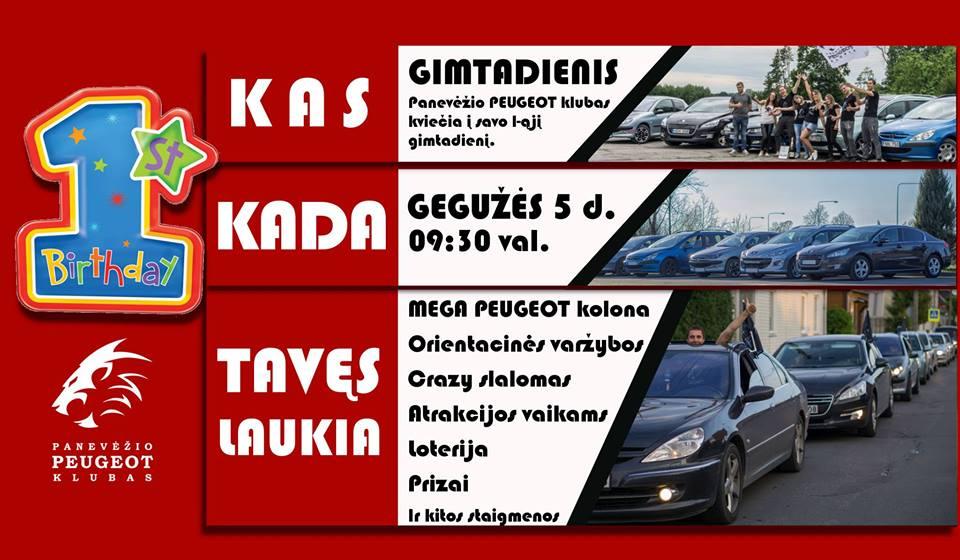 Panevėžio Peugeot klubo I-asis gimtadienis
