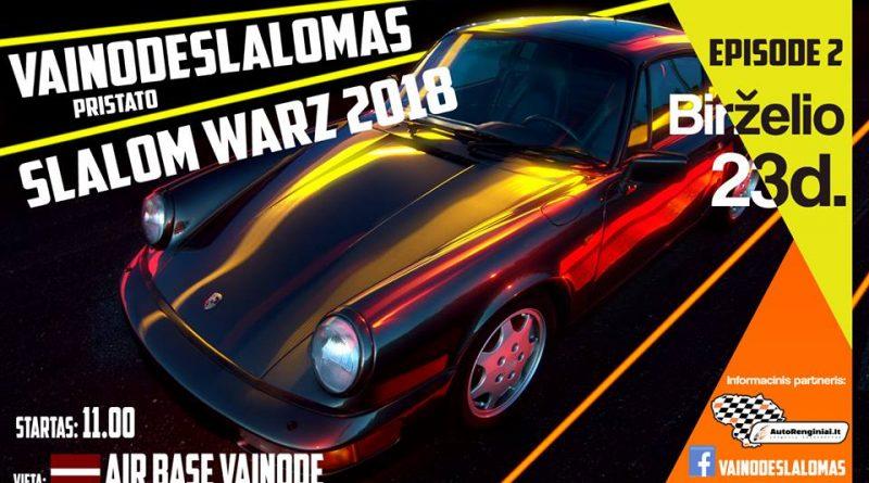 Vainodes Slalomas - Slalom Warz 2018 2 etapas