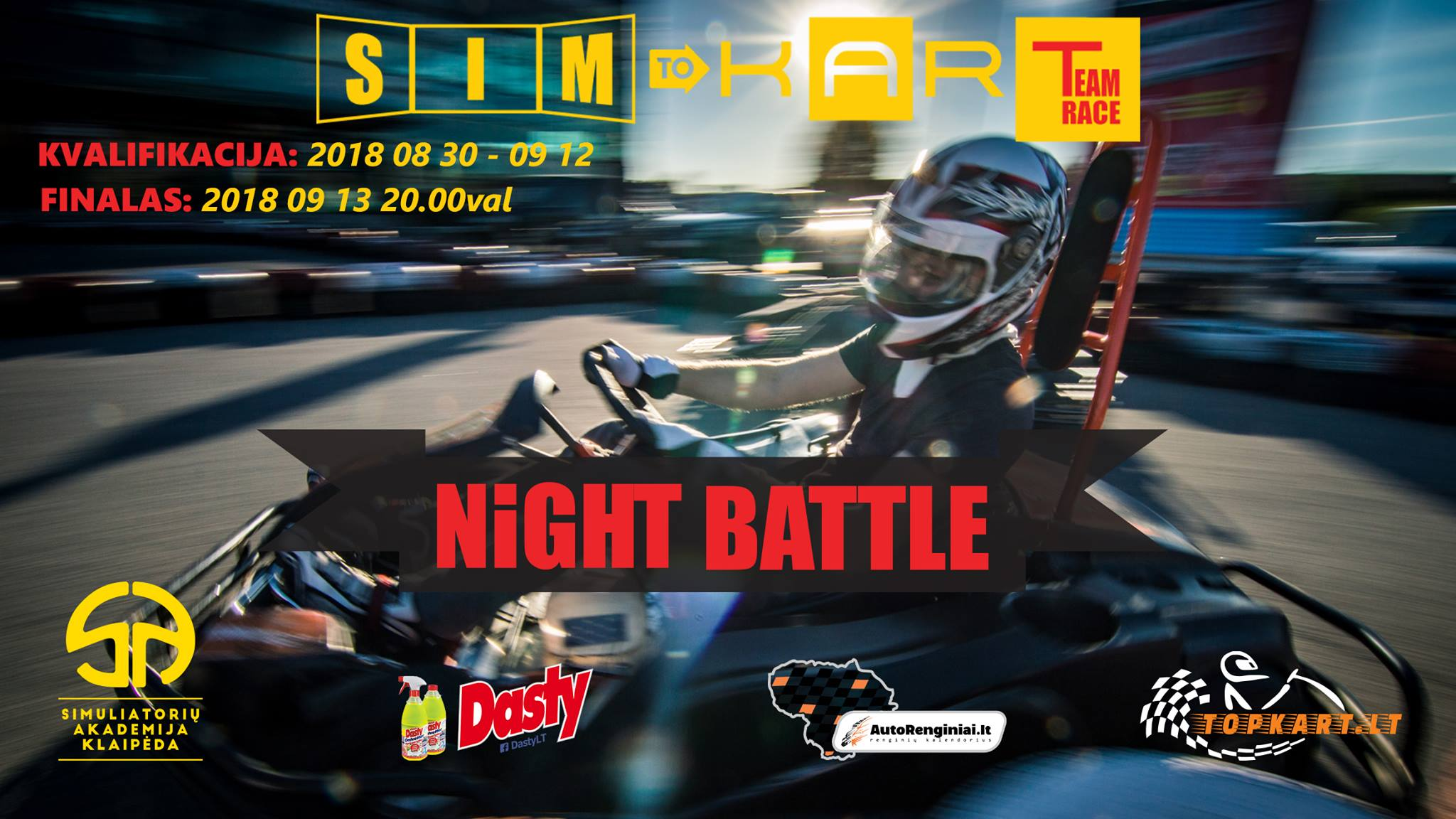 "SIM to KART Team Race ""NiGHT Battle"""