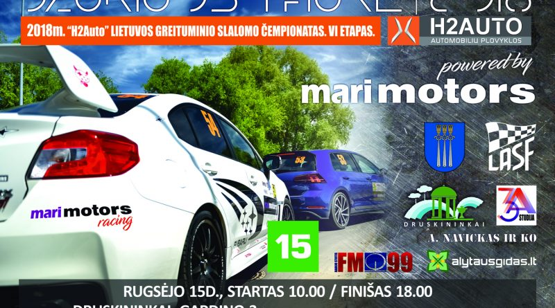 H2auto Lietuvos greituminio slalomo čempionato 6 etapas