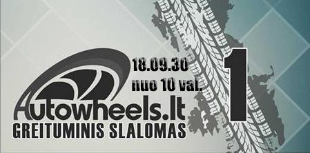 Autowheels.lt greituminis slalomas 18-09-30 Jonavos aerodrome