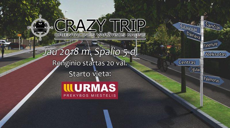 Orientacinės automobilių varžybos Kaune CRAZY TRIP 2018-10-05