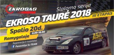 """Slalomo serija """"Ekroso taurė 2018"""" III etapas"""
