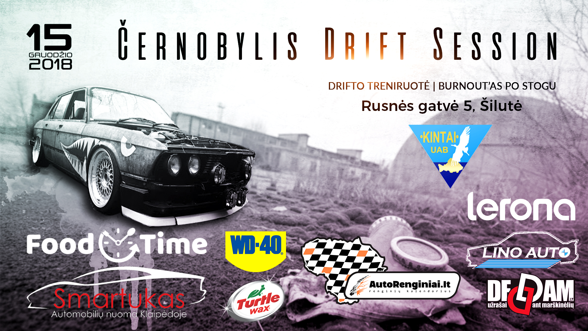 Černobylis Drift Session