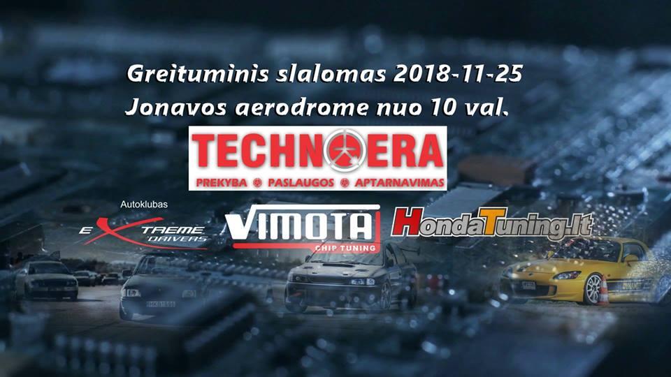 Greituminis slalomas technoera 18-11-25 d. Jonava