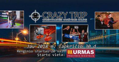Orientacinės automobilių varžybos Kaune CRAZY TRIP 2018-11-30