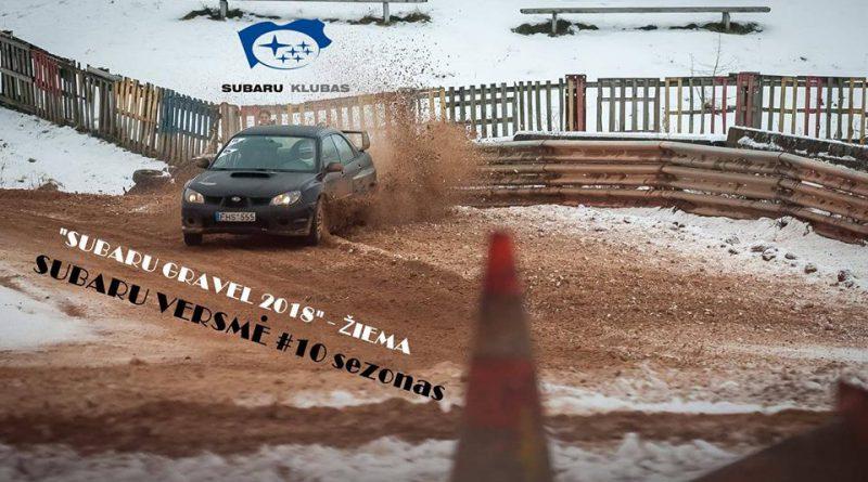 Subaru Gravel 2018 - ŽIEMA III etapas Subaru Versmė