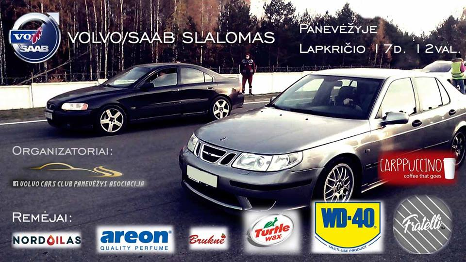 Volvo/Saab slalomas