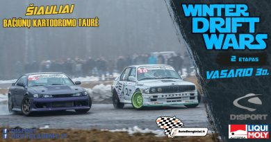 Winter Drift Wars 2 Etapas / Bačiūnų Kartodromo Taurė