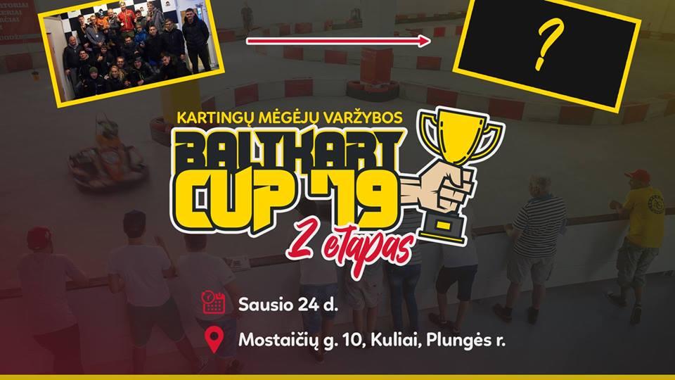 """Kartingų mėgėjų varžybos - """"Baltkart CUP '19"""" 2 etapas"""