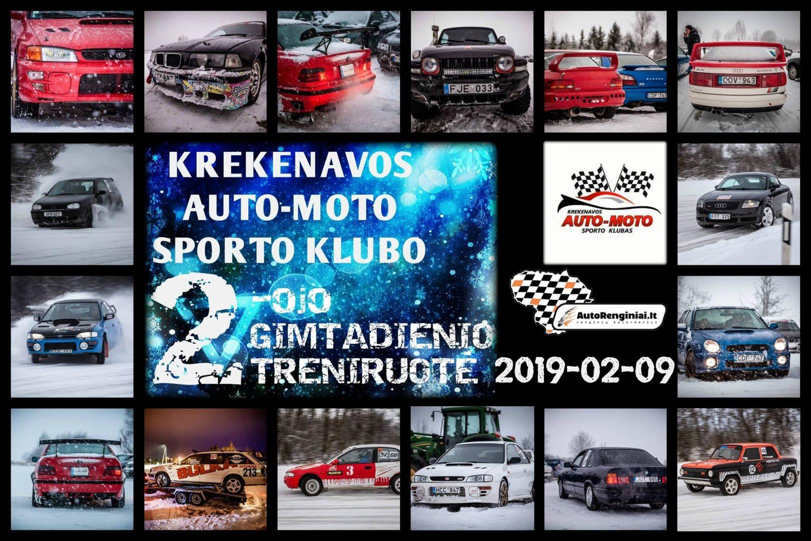 Krekenavos auto-moto sporto klubo 2-ojo gimtadienio treniruotė
