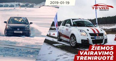 Žiemos vairavimo treniruotė