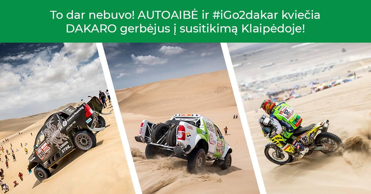Autoaibė ir #iGo2dakar kviečia Dakaro gerbėjus į susitikimą!