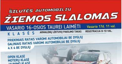 Šilutės automobilių žiemos slalomas