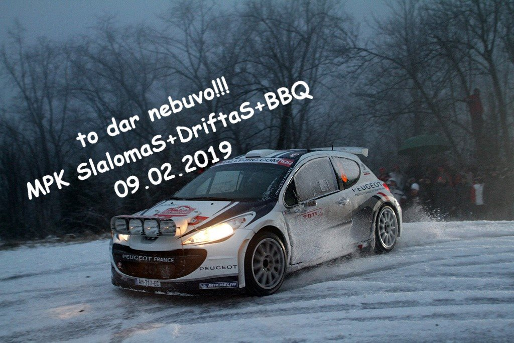 Žiemos Memel Peugeot klubo slalomas