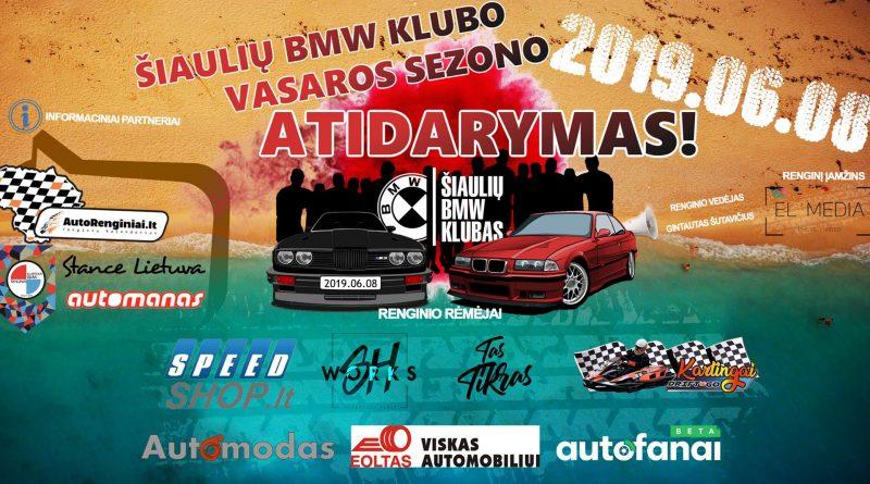 Šiaulių BMW Klubo vasaros sezono ATIDARYMAS