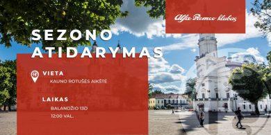 Alfa Romeo klubo šiltojo sezono atidarymo šventė Kauno Rotušėje