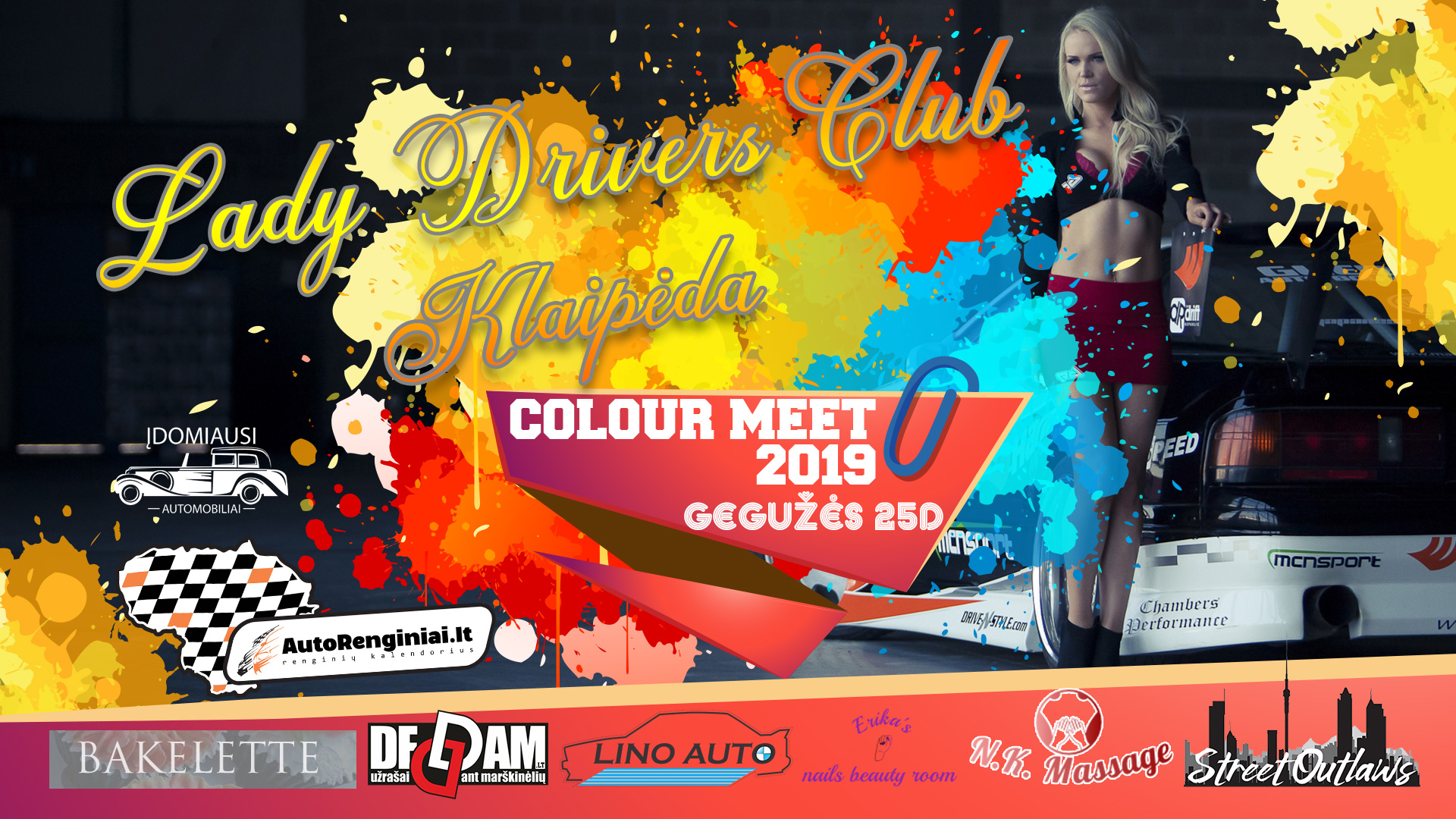 Lady Drivers Club Klaipėda - Colour Meet 2019