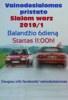 Slalom warz 2019 1 etapas