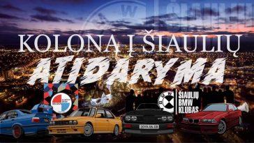 Kolona į Šiaulių BMW klubo sezono atidarymą iš Klaipėdos