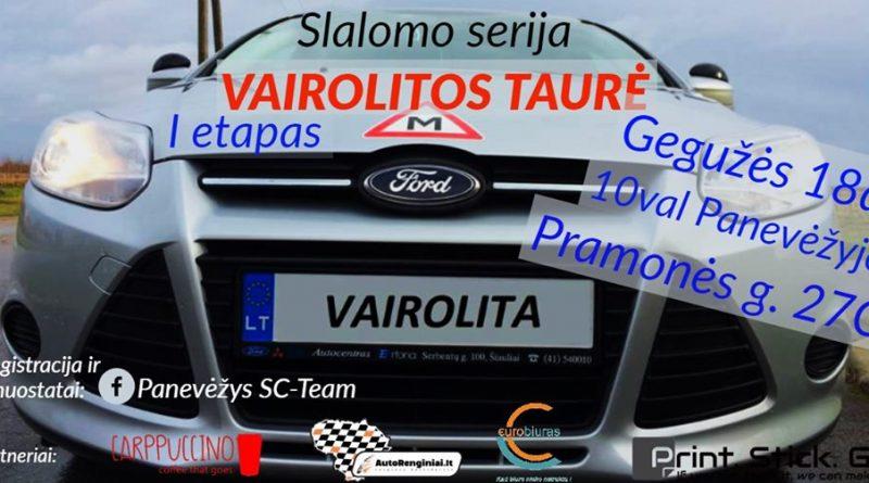 """Slalomo serija """"Vairolitos taurė I etapas"""""""