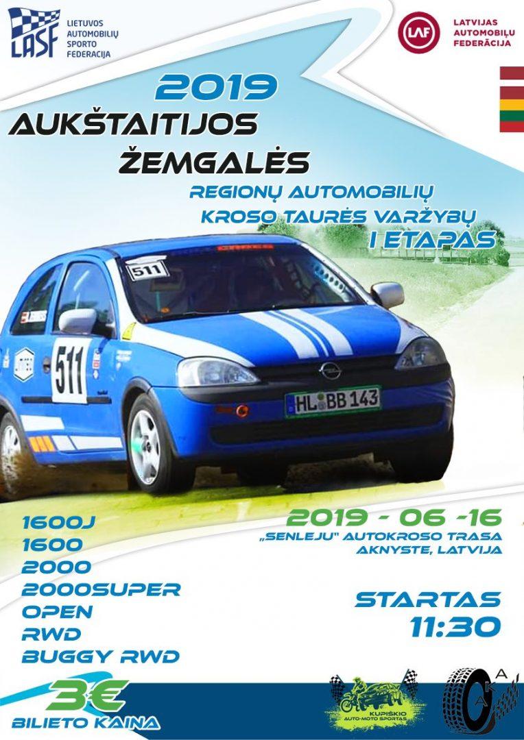 Aukštaitijos-Žemgalės regionų automobilių kroso taurės I etapas