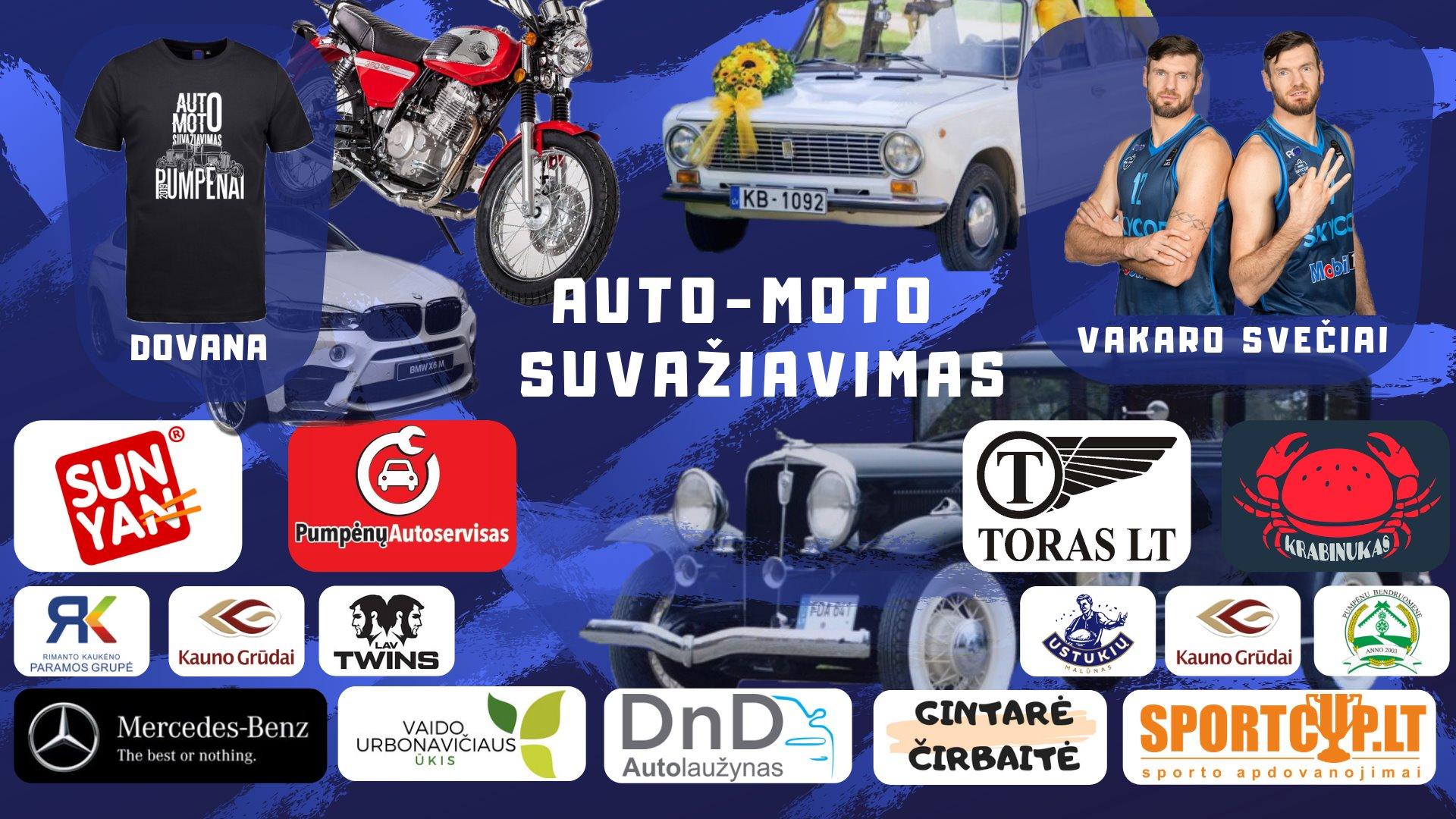 Auto-moto technikos suvažiavimas Pumpėnuose