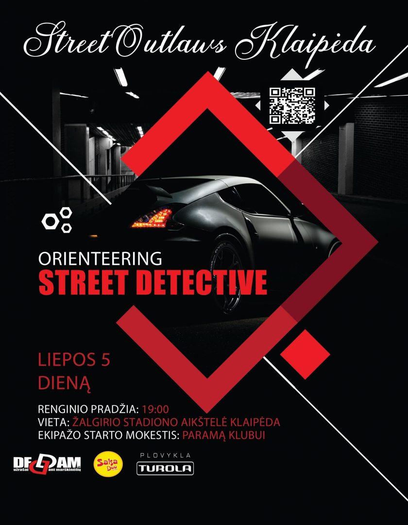 Orientacinės varžybos per visą klaipėdos miestą - streetoutlaws