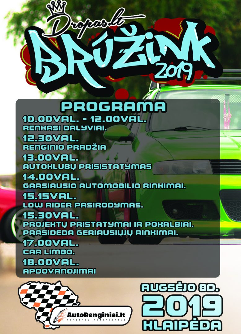 Brūžink 2019 programa