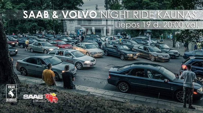 SAAB & VOLVO Night Ride Kaunas