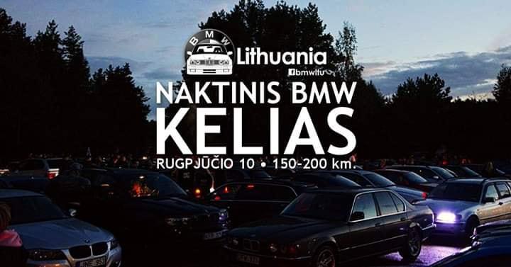Naktinis BMW Lithuania Kelias