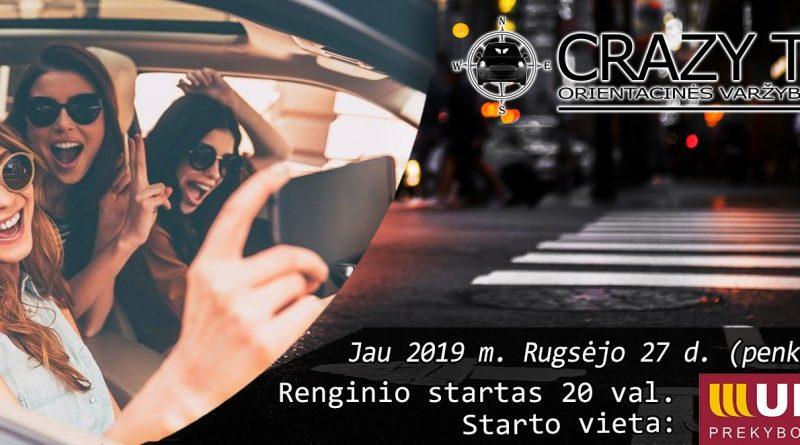 Orientacinės automobilių varžybos Kaune CRAZY TRIP 2019-09-27