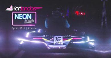 Neon Race by Kartlandas. Kaunas