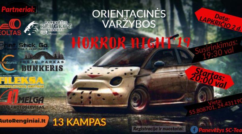 Orientacinės Varžybos Horror night'19
