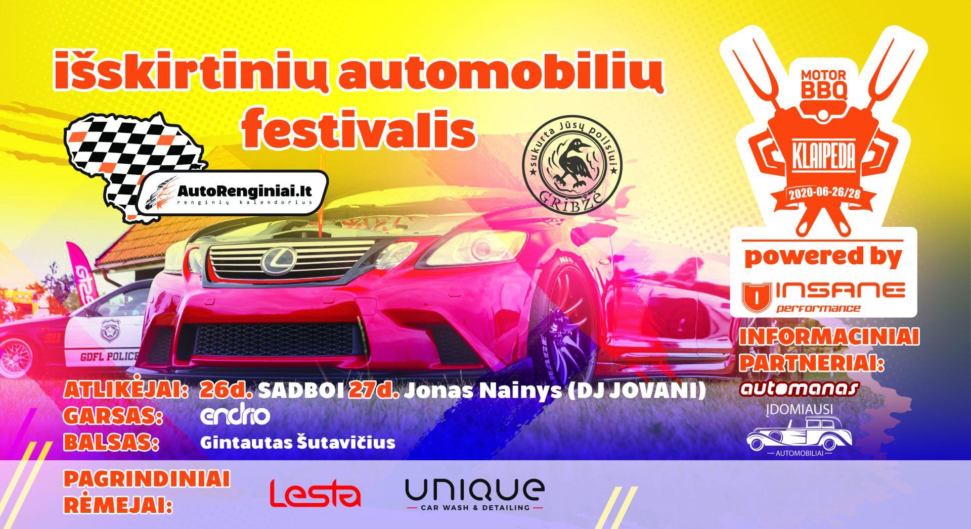 Išskirtinių automobilių festivalis - Klaipėda Motor BBQ 2020 powered by Insane Performance