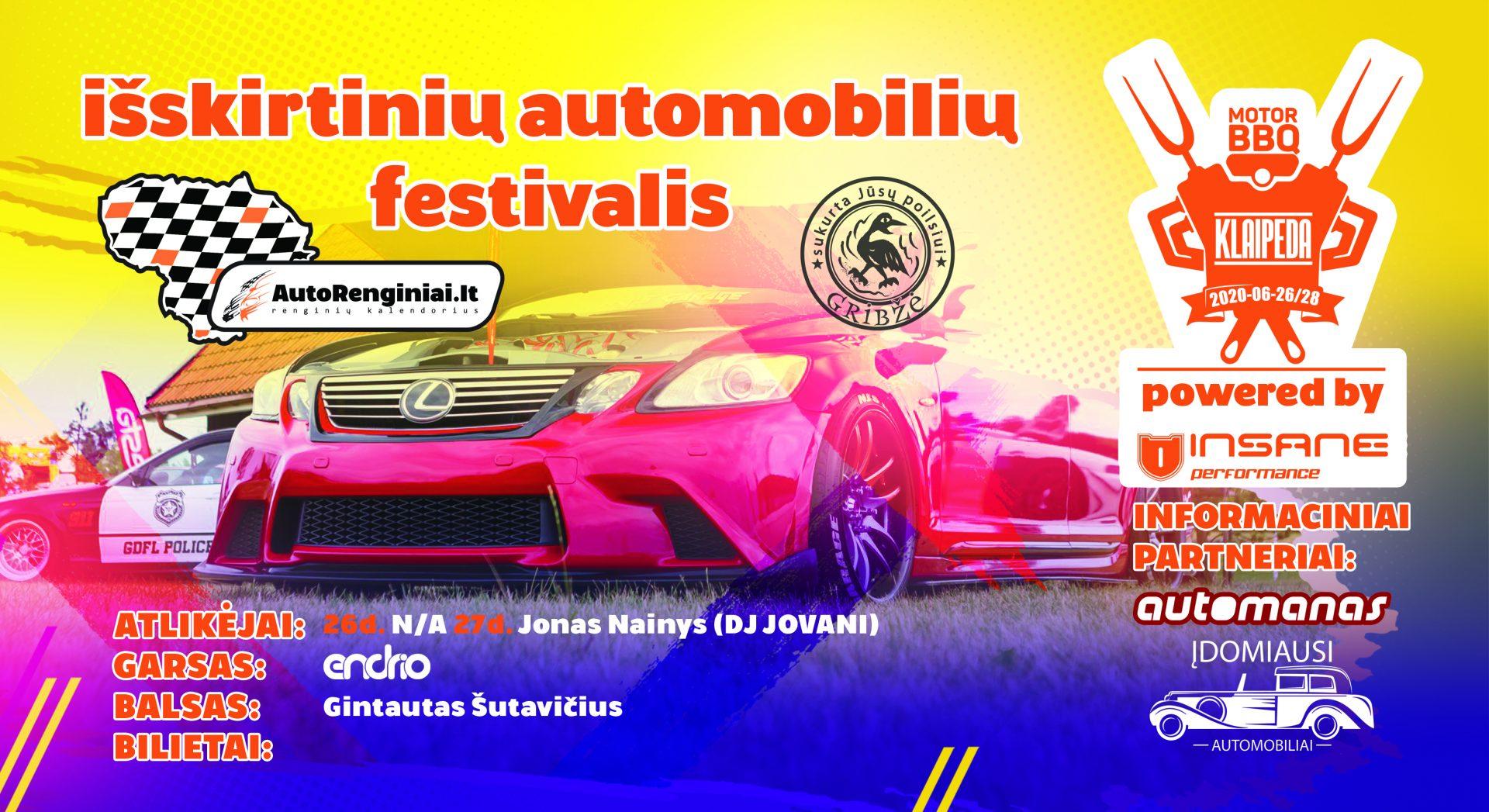 Išskirtinių automobilių festivalis – Klaipėda Motor BBQ 2020 powered by Insane Performance