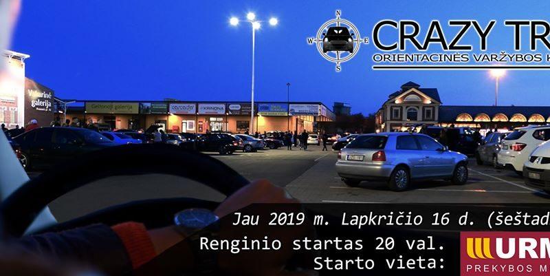 Orientacinės automobilių varžybos Kaune CRAZY TRIP 2019-11-16